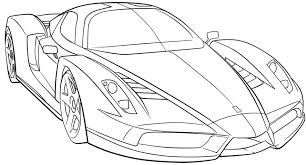 Ferrari Sport Car High Speed Coloring Page Ferrari Car Coloring