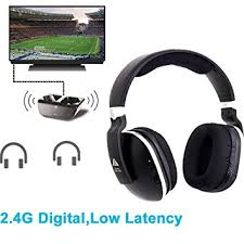 tv ears amazon. wireless headphones for tv with rf transmitter watching and listening - digital over ear cordless tv ears amazon
