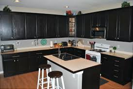 staining kitchen cabinets darker on beautiful before and after stain without