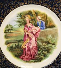 vintage wood sons english ironstone decorative wall plate