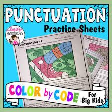 Grammar Punctuation Color By Code Grammar Punctuation