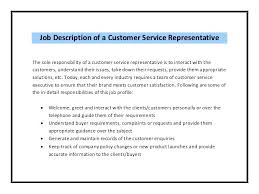 Customer Service Job Description For Resume Housekeeping Of Care