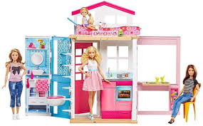 Amazon.com: Barbie 2-Story House with Furniture & Accessories: Toys & Games