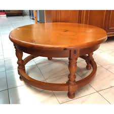 6981 round pine coffee table