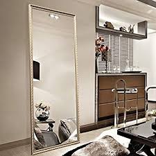 floor mirror. Full Length Leaning Floor Mirror, Wood Finished Frame Oversized Rectangle  Dressing Mirror (Large 65\u0026quot Floor Mirror