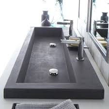 undermount trough bathroom sink with two faucets regard to double faucet attractive furniture medium version