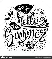 夏によろしきます夏の引用ホリデー グリーティング カードを手書き