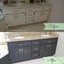 painting bathroom vanity before and after. before and after of bathroom vanity makeover by the bearded iris using annie sloan chalk paint painting t