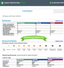 your credit report will show a summary at the top and you can scroll down to see a break down of all recent open or closed items accounts
