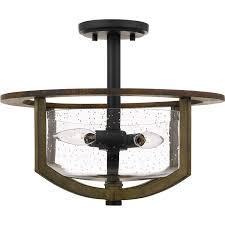 Kichler 38171 Distressed Wood Semi Flush Mount Light