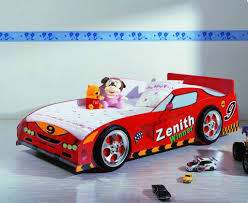 Bedroom:Cool Car Bed Boy Sports Themed Kids Bedroom With Blue Wall Color  And Wooden