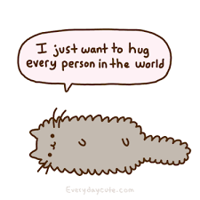 cute cats animated gif. Contemporary Animated Animation Hug GIF By Pusheen With Cute Cats Animated Gif