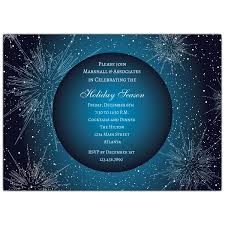 Corporate Holiday Party Invite Ice Teal Corporate Holiday Party Invitations