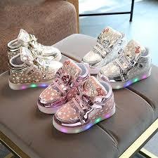 <b>New Arrival Luminous</b> Kids Led Sneakers Girls Glowing Bright ...