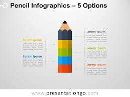Infographics For Powerpoint Infographic Pencil With 5 Options For Powerpoint