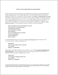 Awesome Cover Letter Transcript 315594 Resume Ideas