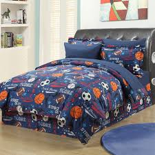 sports themed toddler bedding set twin comforter in plan 9