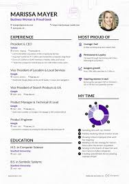 Marissa Mayer Resume Marissa Mayer's Yahoo CEO Online Resume Enhancv 4