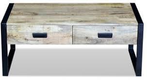 vidaXL Solid Mango Wood <b>Coffee Table</b> With 2-Drawer, <b>100x60x40</b> ...