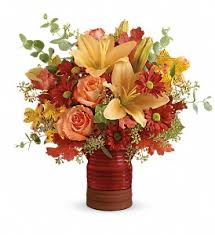 teleflora s harvest crock bouquet in fayetteville nc always flowers by crenshaw