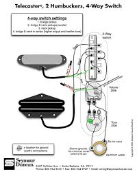 tele wiring diagram 2 humbuckers 4 way switch telecaster build the world s largest selection of guitar wiring diagrams humbucker strat tele bass and more