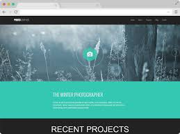 Photographer Plus A Responsive One Page Photography Website Template