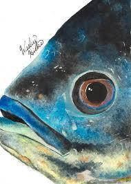 Realistic Freshwater Oscar Aquarium Fish Painting by Wesley Hicks