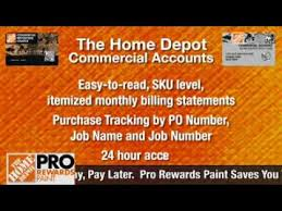 Commercial Credit Options The Home Depot Youtube