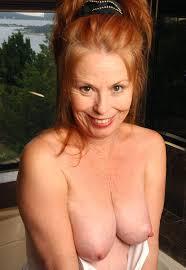 Red headed granny sexy