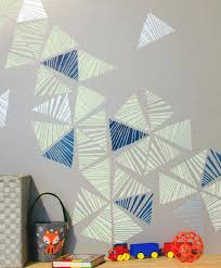 wall stencils art cute boys room decor idea modern and geometric wall art stencils on accent