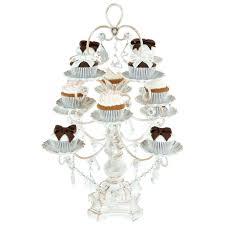chandelier cupcake holder cupcake chandelier stand crystals chandelier cupcake stand for madeleine antique white wahsed 12 piece dessert cupcake stand