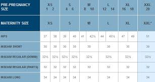 Maternity Jean Size Chart Old Navy Maternity Jeans Size Chart The Best Style Jeans