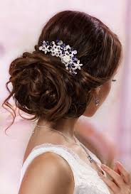 Wedding Hairstyles For Medium Hair 53 Amazing Wedding Hairstyles Blue Bridal Hair Comb Something Blue Hair Comb
