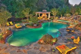 backyard design with pool. Fantastic Backyard Pool Ideas Gives Peaceful Atmosphere: Mesmerizing Modern Design With O