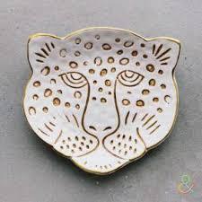 Блюдце для украшений и мелочей с головой <b>леопарда</b>