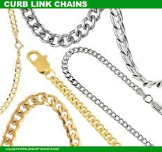 curb link chain necklaces