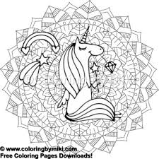 Unicorn Mandala Coloring Page 656 Coloring By Miki