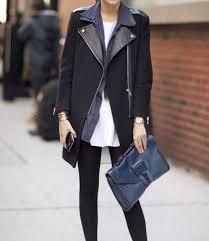 jacket wool leather biker jacket coat black coat