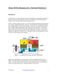 Thermal Oxidizer Design Calculations Regenerative Thermal Oxidizer Rto Design Theory