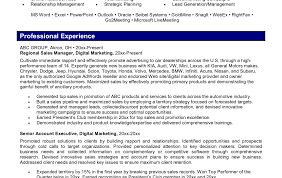 Marketing Manager Resume Examples Resume Template