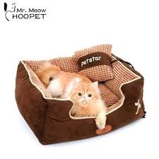 warming cat house hot square puppy bed warming dog house soft fabric sofa winter for dog