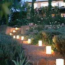 landscaping lighting ideas.  Lighting 7 Small Luminaries Going Up The Steps To Landscaping Lighting Ideas