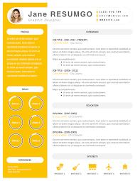 Iantha Bright Resume Template Resumgocom Modern Resume