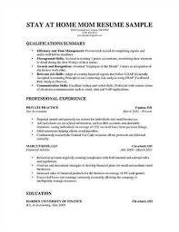 Wonderful Stay At Home Mom Description For Resume 76 In Resume Examples  With Stay At Home