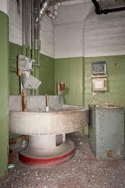 bradley bathroom. Abandoned Barber-Colman Factory In Bathroom With Big Round Sink Aka. Bradley Washfountain.