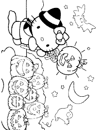 Small Picture Hello Kitty Halloween Printable Coloring Pages Festival Collections