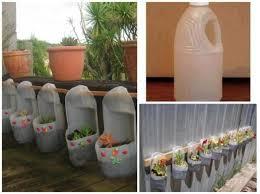vertical garden planters using plastic bottles