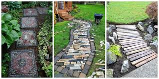 Small Picture 10 DIY Garden Path Ideas How to Make a Garden Walkway