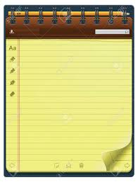 Notepad Template Notepad Template Vertical Royalty Free Cliparts Vectors And