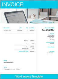 Ms Invoice Templates Word Invoice Template Free Download Send In Minutes